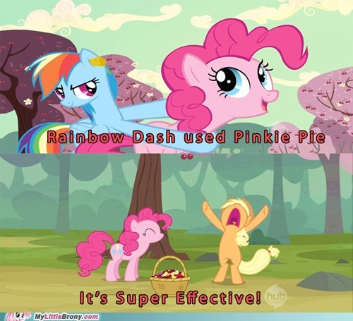 comics pinkie pie rainbow dash super effective - 5852046080