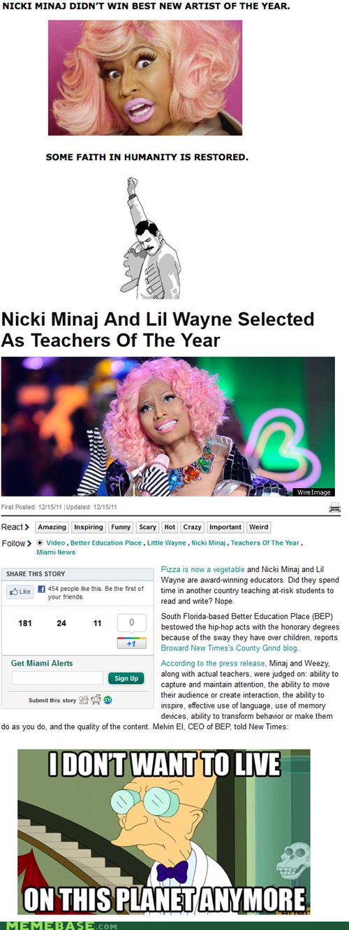 grammy,i dont want to live on this planet anymore,lil wanye,nicki minaj,steve jobs