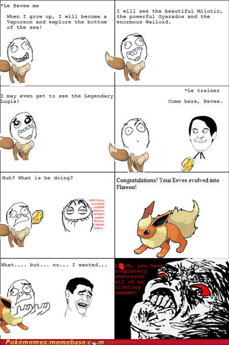 eevee,Evolve,lifelong dreams,rage comic,Rage Comics