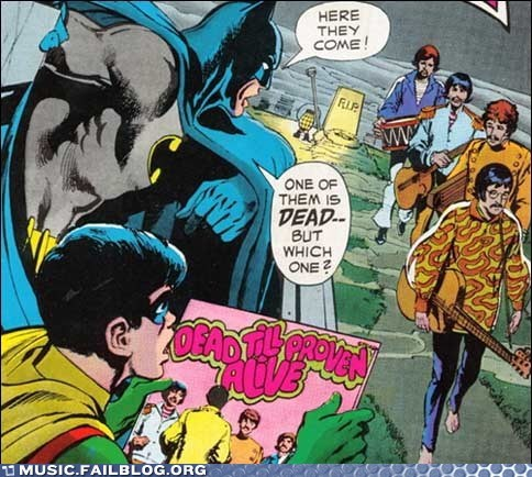 batman comic books comics superheroes the Beatles