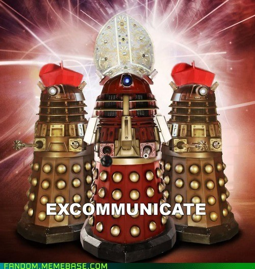 crossover,dalek,doctor who,Fan Art,pope,Whovian