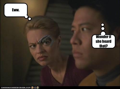 Wonder if she heard that? Eww.