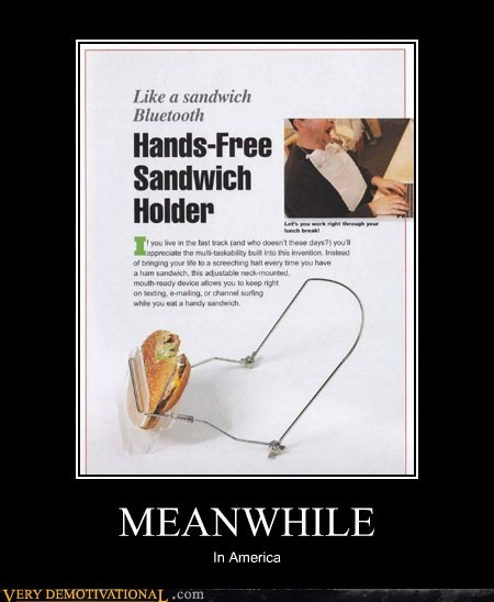 america hands free hilarious sandwich wtf - 5853344000