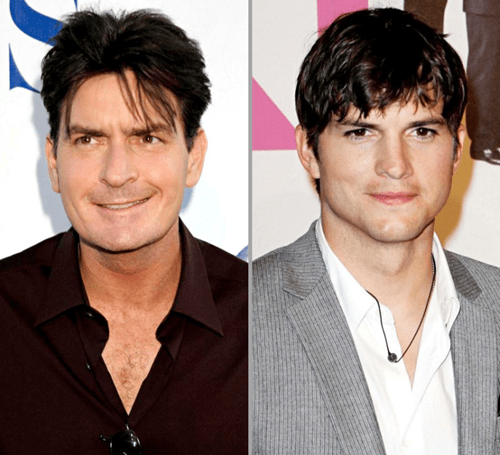 anger management,ashton kutcher,celeb,Charlie Sheen,two and a half men,Warner bros