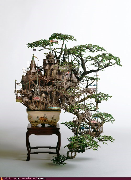 garden tree house wtf - 5854124288