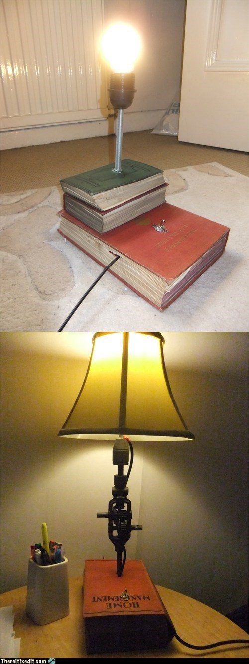 awesome book lamp neat not a kludge - 5854369280