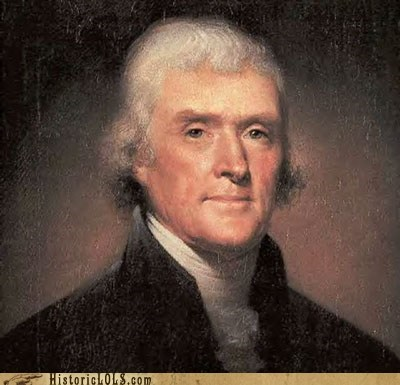 history news painting portrait This Day In History thomas jefferson