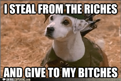 dogs give to the poor jack russell terrier robin hood steal from the rich tv show wishbone - 5854398464
