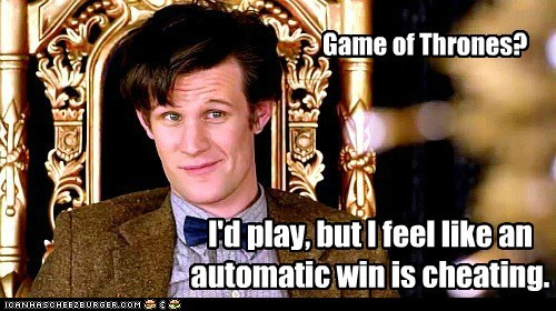 automatic,cheating,doctor who,game,Matt Smith,the doctor,win