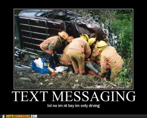 AutocoWrecks crash dangerous texting while driving - 5854427392