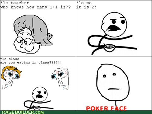 cereal guy poker face Rage Comics truancy story - 5854635264