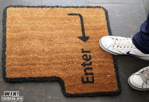 design door door mat enter keyboard mat nerdgasm - 5854741760