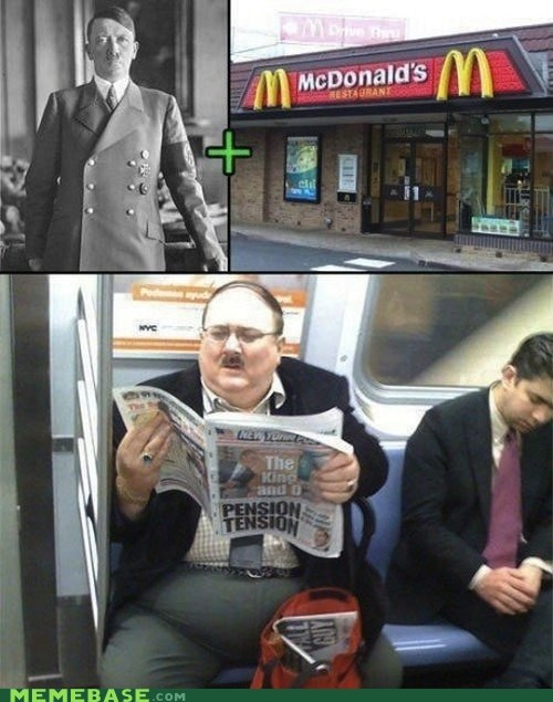 Germany goebbels hitler McDonald's Memes nazis - 5854807552