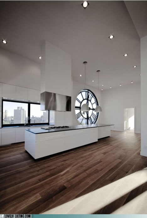 apartment brooklyn clock kitchen window - 5854851328