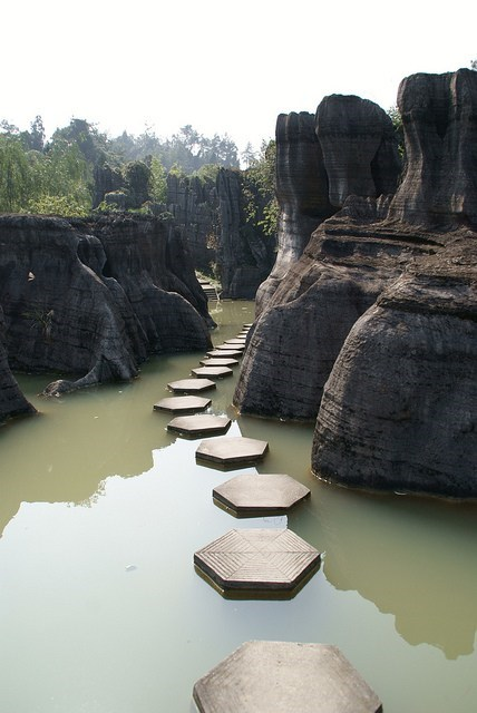 getaways pathway stepping stones unknown location walkway - 5855082496