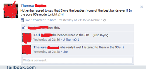 facepalm,thats not how it works,the Beatles,wrong decade