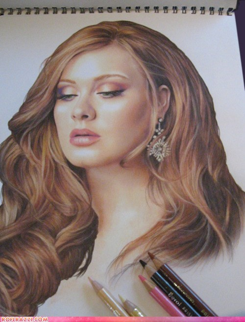 adele art awesome celeb Music sexy - 5855453440