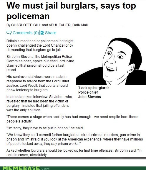 burglars jail policeman Rage Comics you dont say - 5855593472