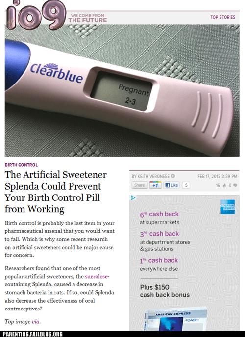 artificial sweetener birth control real sugar spenda - 5855688448