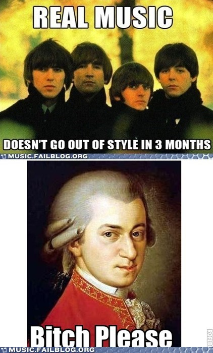 beatles classical fashion mozart style the Beatles
