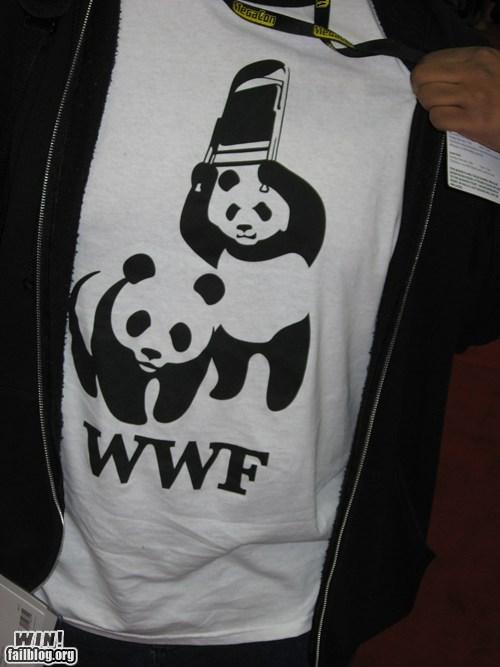 design g rated Hall of Fame panda puns shirt win wrestling wwf - 5856272128