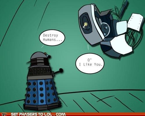 best of the week dalek destroy doctor who gladOS humans like love Portal - 5856774912