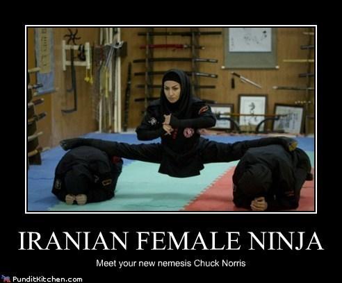 chuck norris,iran,ninjas,political pictures,women