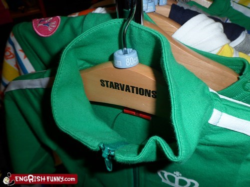 I only buy my children clothes from Starvations