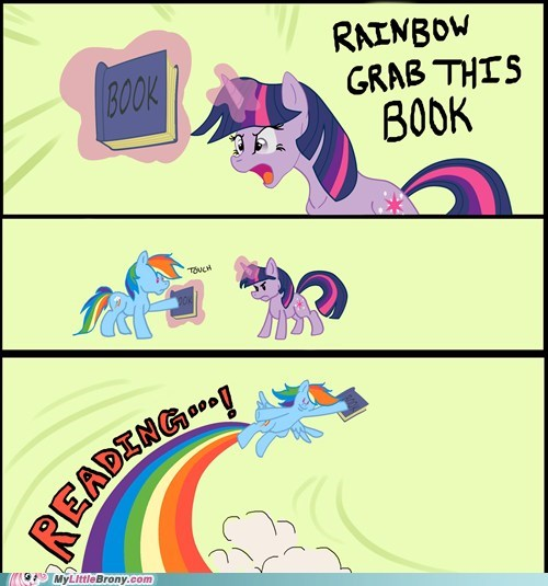 grab this book meme rainbow dash reading twilight sparkle - 5857072896