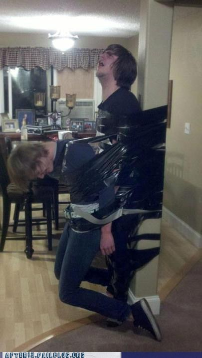 bros,duct tape,Party,passed out,prank