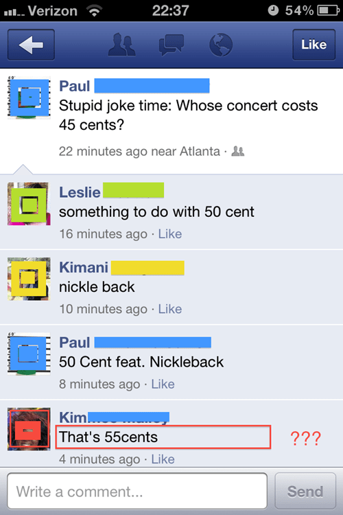 50 cent concert facebook joke nickelback