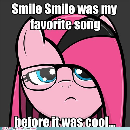 emo hipster meme pinkie pie smile - 5858888960