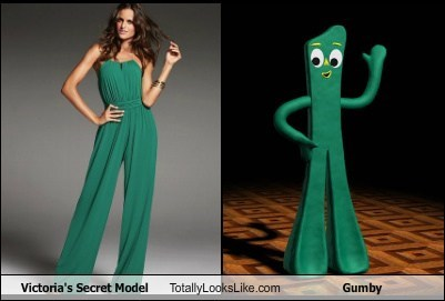 funny gumby model TLL victorias secret