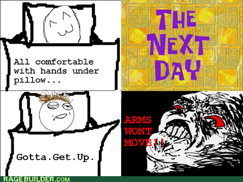 arms,Rage Comics,raisin rage,sleeping