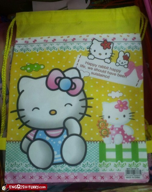 hello kitty rabbit sustainable - 5859467264