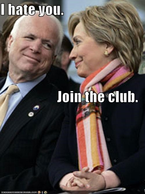 clinton democrats First Lady Hillary Clinton john mccain Republicans - 586019072