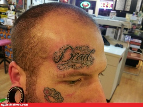 dead dead to everyone face tattoos - 5861620736