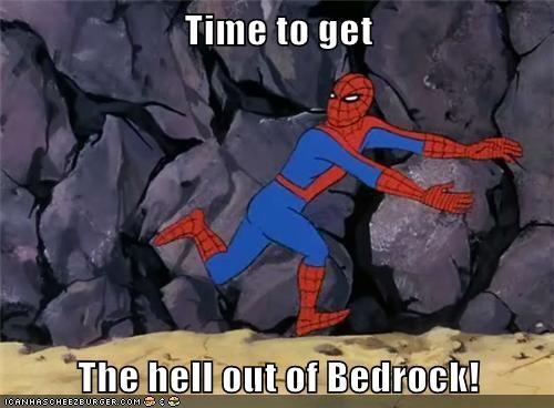 bedrock flintstones Spider-Man Super-Lols wtf - 5863407360