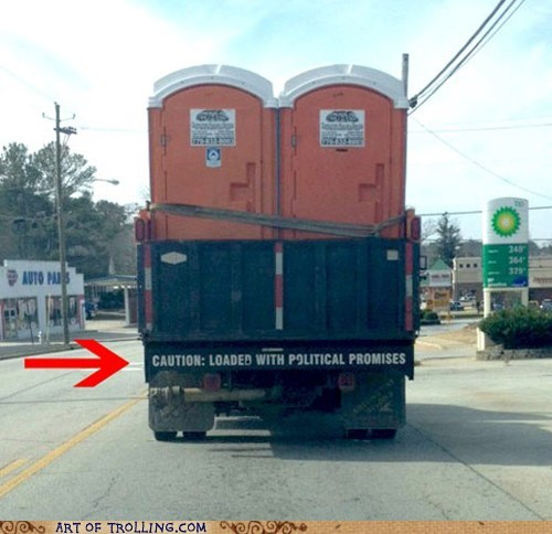 IRL politics pooptimes port a potty - 5863617024