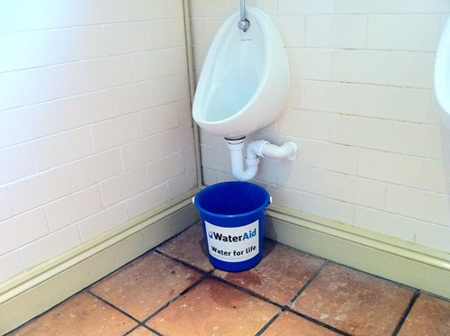 charity,gross,irony,urinal
