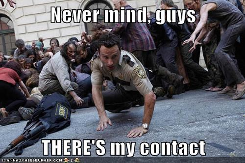 andrew garfield,contact lens,looking,Rick Grimes,The Walking Dead,zombie