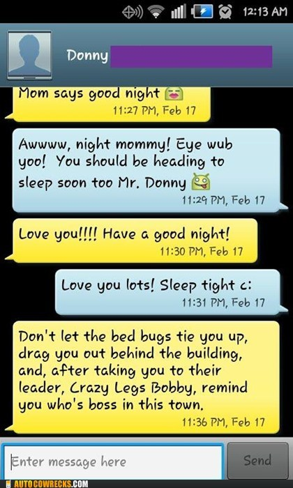 bedbugs,good night,mom,parenting,sleeping