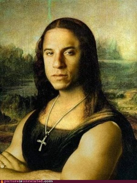 best of week leonardo da vinci mona lisa vin diesel wtf - 5864196096