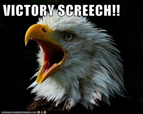 bald eagle,eagle,SpongeBob SquarePants,victory screech