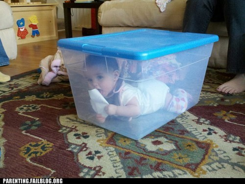 kid in a box storage space tupperware - 5864379392