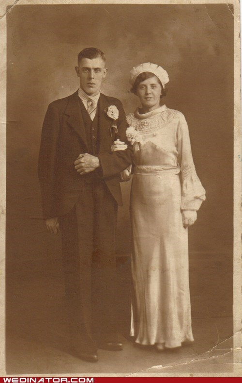 1920s,bride,funny wedding photos,groom,Historical,retro