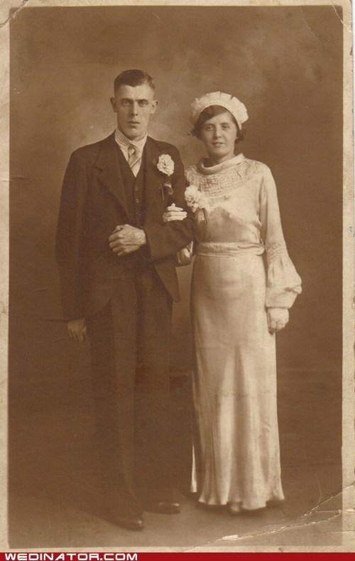 1920s bride funny wedding photos groom Historical retro