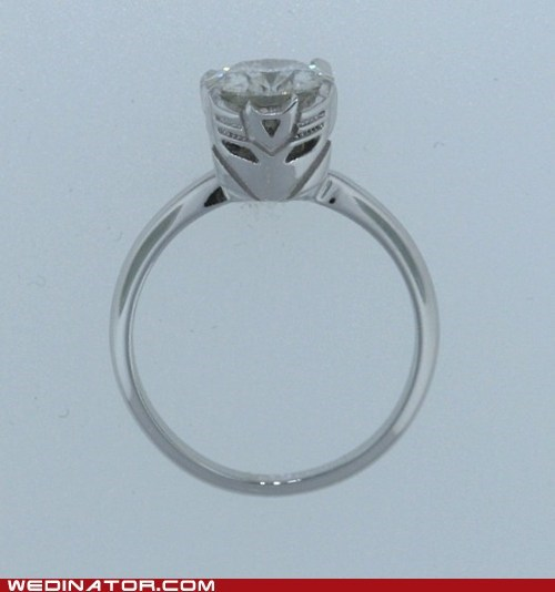 engagement rings funny wedding photos geek rings transformers - 5864877312