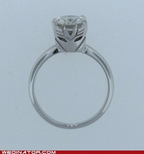 engagement rings funny wedding photos geek rings transformers - 5864877312