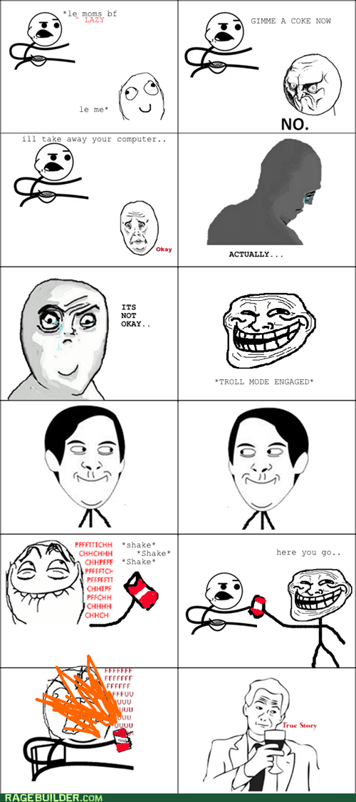 not okay Rage Comics soda spiderpman troll - 5864987648